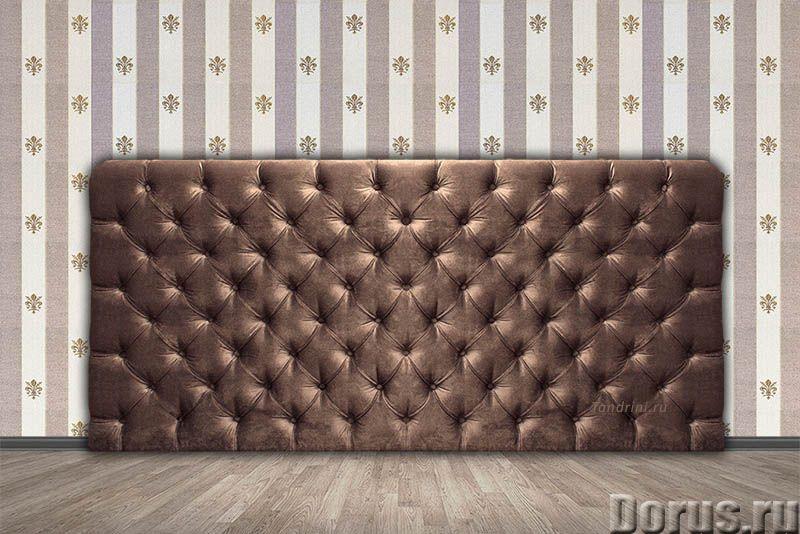 Изголовье для кровати на заказ. Каретная стяжка - Мебель для дома - Стандартные изголовья и кровати..., фото 1