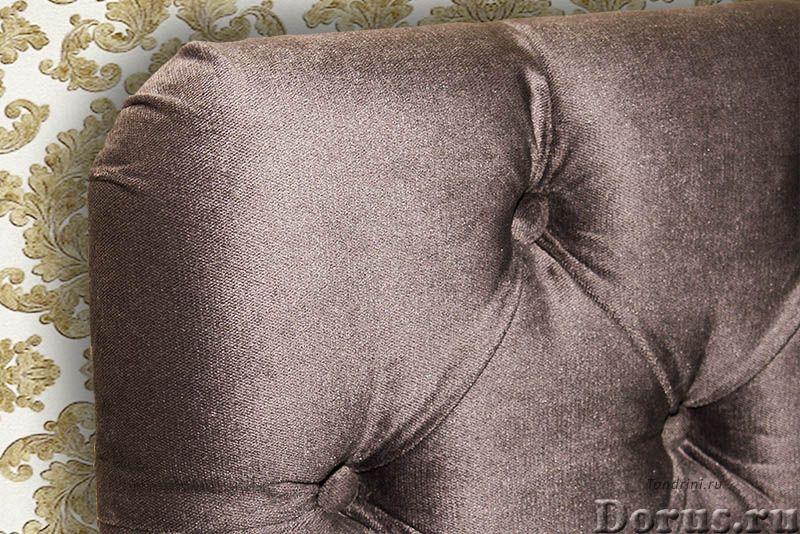 Изголовье для кровати на заказ. Каретная стяжка - Мебель для дома - Стандартные изголовья и кровати..., фото 2
