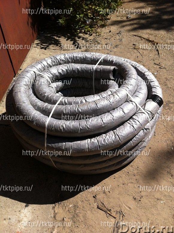 Дренажные гофрированные одностенные ПНД трубы с фильтром - Сантехника - Производственно-коммерческая..., фото 1